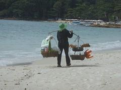 Handel op het strand