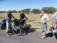 Ontmoeting met twee Nederlandse fietsers