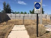 Onverwacht einde van het fietspad