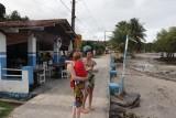 Opwarmen in de zon in San Sebastiao
