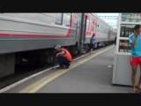 20 juli 14.17uur station Tyumen check onderstel