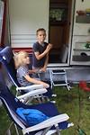 Op de camping in Drenthe