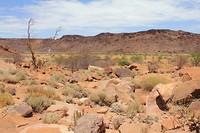 Landschap bij Twijfelfontein