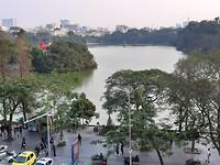 Een van de meren in het centrum van Hanoi