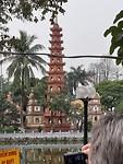 De Chua Tran Quoc pagode bij het Westlake