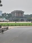 Het mausoleum waar Ho Chi Minh ligt opgebaard