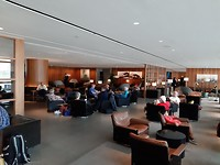 De businesslounge op Hongkong Airport