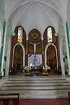 Interieur van de rooms katholieke kerk in Ho Chi Minh City