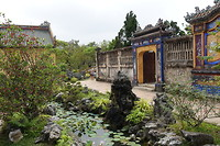 De Japanse tuin in de Citadel van Hue