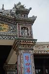 Detail van een tempel in de Citadel van Hue