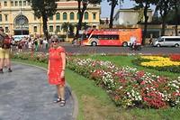 Voor het postkantoor in Ho Chi Minh City