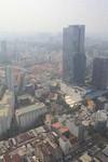 Uitzicht vanaf de 49ste etage van de Bitexco Financial Tower in Ho Chi Minh City