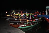 Verlichte boten in Hoi An