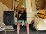 Redelijk stuk eindelijk op de camping met een Radler