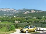 Het Adige dal met zijn appelboomgaarden