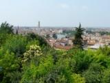 Uitzicht vanaf de camping op Verona