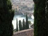 De oudste brug van Verona, Cesear liep hier ook!