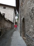 Smalle straatjes  in Assisi