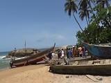 Aankomst vissersbootje