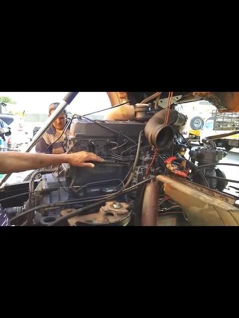 Change engine UNIMOG U1300L Namibia