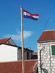 Zelfde vlag, alleen met theedoek in het midden