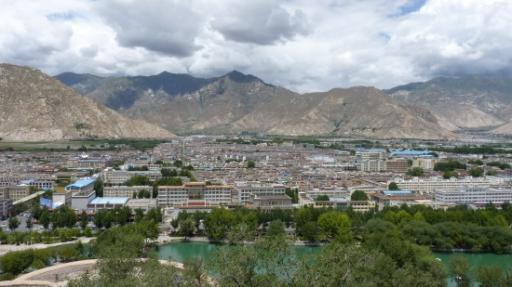 uitzicht over Lhasa