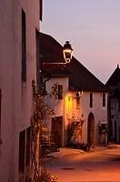 Zonsondergang in Château-Chalon