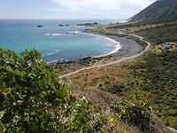 Uitzicht vanaf de vuurtoren van Cape Palliser