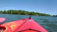kano-tocht op klein vink