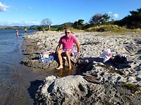 hete voeten krijg je in het zand door de vulkanische activiteit