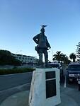 Abel Tasman met een meeuw op zijn kop
