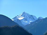 de Mount Cook komt steeds dichterbij
