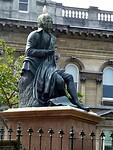 standbeeld van Robert Burns, een Schotse dichter