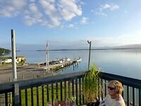 onze laatste avond in het botenhuisrestaurant in Bowentown