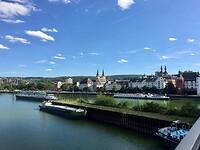 de Deutsches Eck wordt in Koblenz bereikt