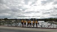 een foto op de brug over de Seine