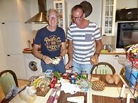 Piet en Paul hebben uitgebreid inkopen gedaan voor het diner