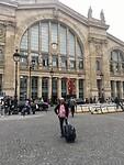 Gert staat hier voor Gare du Nord in Parijs
