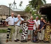 afscheid van Jacques, Bert en Herman in Hotel  Sangri-La