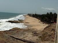 uitzicht naar het westen richting Elmina