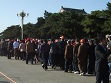 de rij voor het mausoleum van Mao
