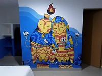 Muurschildering in onze kamer