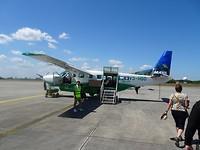 Ons vliegtuig naar Placencia