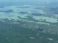 Belize van uit het vliegtuig