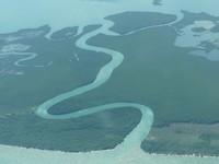 Belize, van uit het vliegtuig