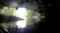 De uitgang van de grot