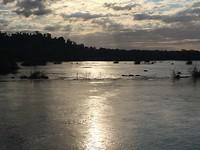 Sunset Paraná river
