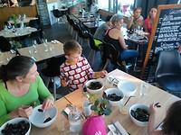 Eating mussles in Stavanger