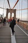 Eef on the Brooklyn Bridge