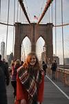 Hansie on the Brooklyn Bridge